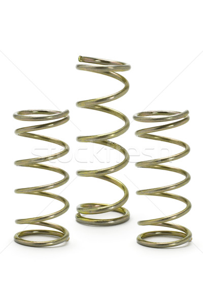 Three metal spring coils  Stock photo © dezign56