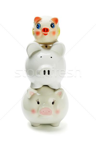 Stack of three piggybanks  Stock photo © dezign56
