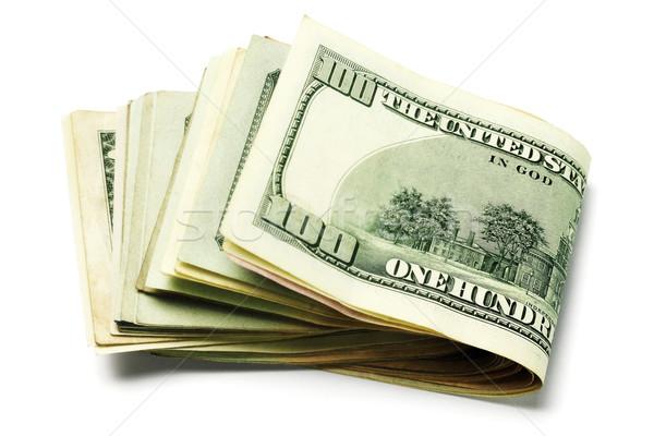 Para notlar katlanmış beyaz iş Stok fotoğraf © dezign56