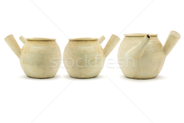 Three Chinese clay pots Stock photo © dezign56