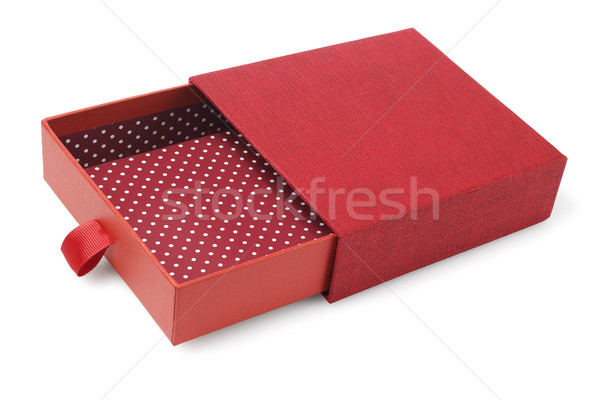 Nyitva piros ajándék doboz fehér ajándék konténer Stock fotó © dezign56