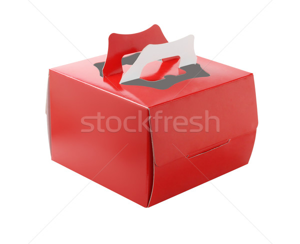 Red Takeaway Cake Box Stock photo © dezign56