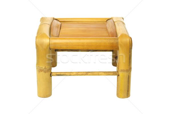 Bambusz zsámoly üres kínai fehér szék Stock fotó © dezign56