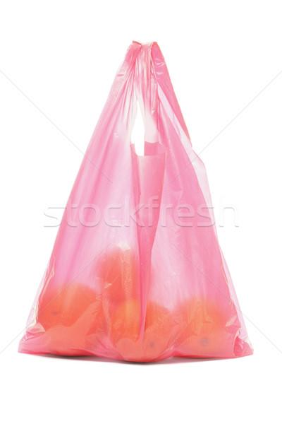 Plastic zak sinaasappelen Rood witte oranje Stockfoto © dezign56