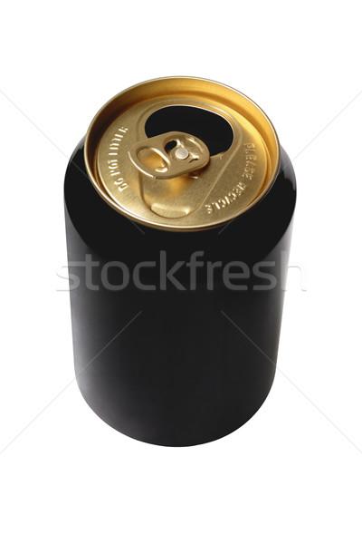 Vazio preto cerveja lata branco objeto Foto stock © dezign56