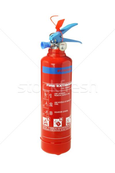 Taşınabilir yangın söndürücü beyaz yangın Metal güvenlik Stok fotoğraf © dezign56