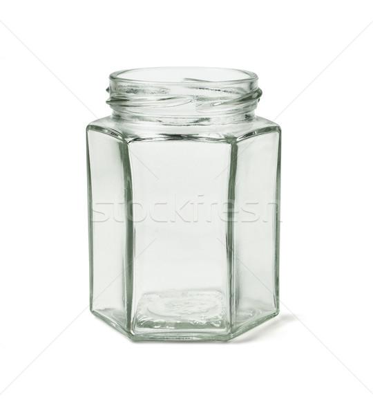 Boş cam konteyner biçim beyaz şişe Stok fotoğraf © dezign56