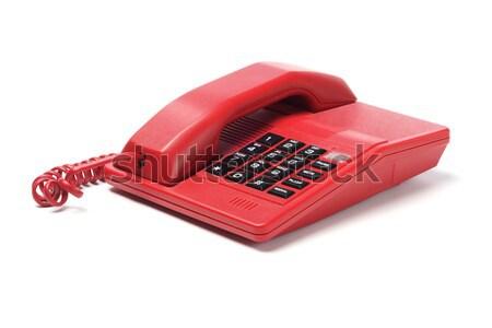 Piros telefon alkotóelemek belső fehér terv Stock fotó © dezign56