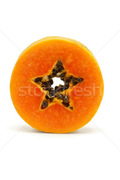 Slice of juicy papaya fruit Stock photo © dezign56