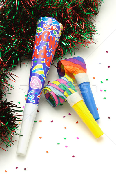 Colorful Party horn and blowers Stock photo © dezign56