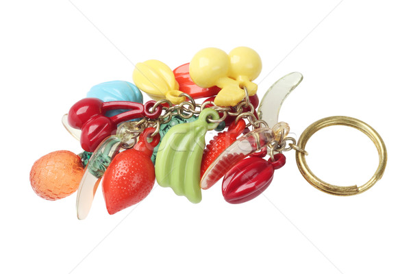 Chave cadeia bugiganga plástico fruto branco Foto stock © dezign56