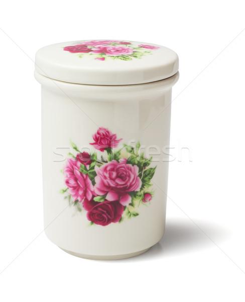 Seramik konteyner beyaz nesne dekorasyon Stok fotoğraf © dezign56