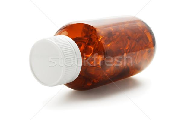 Visolie capsules fles zachte gel witte Stockfoto © dezign56