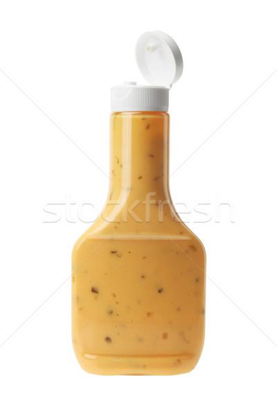 şişe bin ada salata sosu beyaz gıda Stok fotoğraf © dezign56