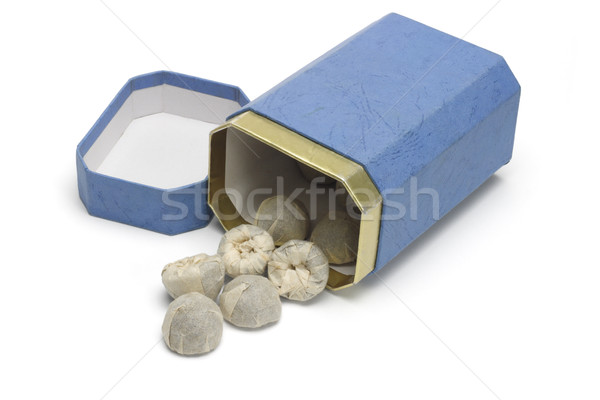 Chinese tea blocks wrapped in paper Stock photo © dezign56