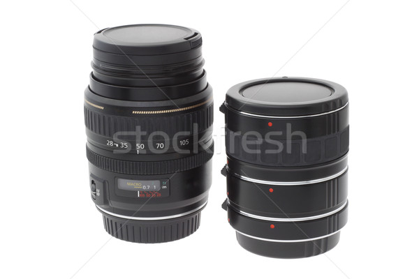 Zoom lens and extension tube Stock photo © dezign56