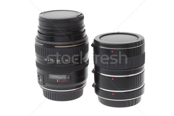Zoom lenti tubo bianco gruppo Foto d'archivio © dezign56