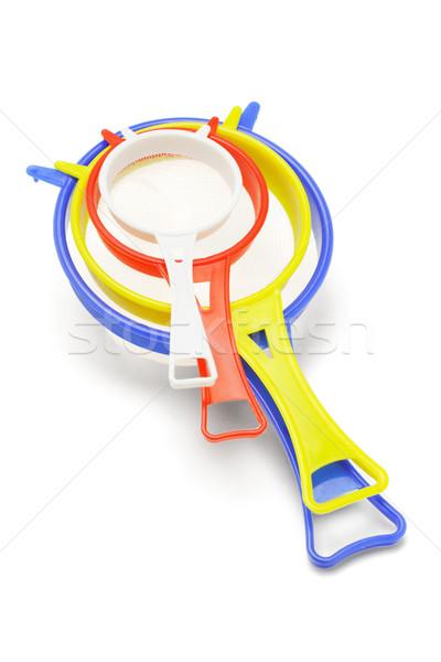 пластиковых кухне красочный инструментом чистой изолированный Сток-фото © dezign56