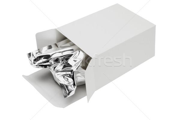 Aluminum foil bag in paper box Stock photo © dezign56