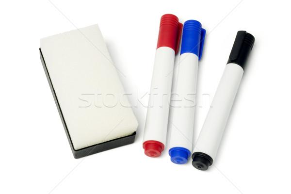 маркер ручках Eraser цвета белый Сток-фото © dezign56