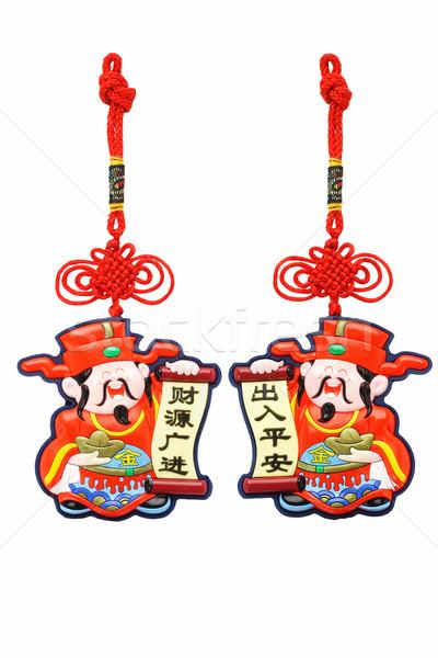 Chinese new year God of Prosperity ornaments Stock photo © dezign56
