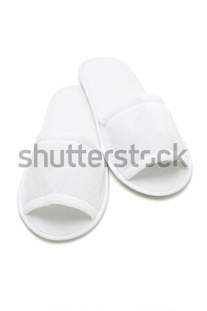 White casual home slippers Stock photo © dezign56