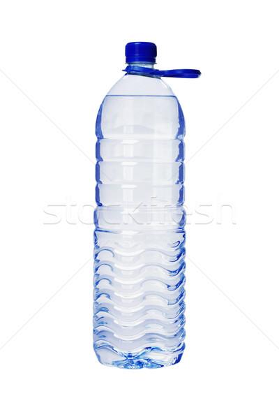 Plástico garrafa água mineral água manusear branco Foto stock © dezign56
