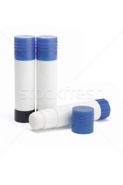 Carta colla scuola blu gruppo plastica Foto d'archivio © dezign56