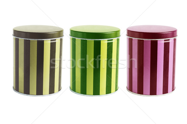Colourful Metal Tin Cans Stock photo © dezign56