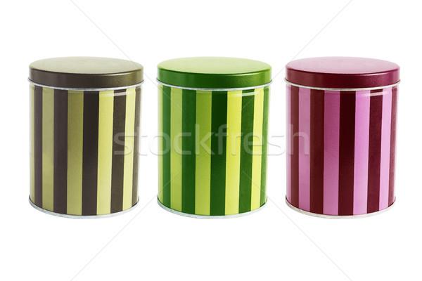 Colorato metal tin contenitore colore dolce Foto d'archivio © dezign56
