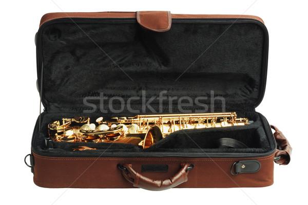 Saxophone In Open Case  Stock photo © dezign56