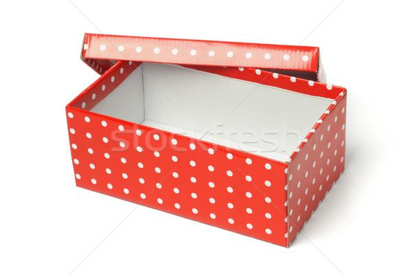 красный шкатулке открытых пусто белый подарок Сток-фото © dezign56