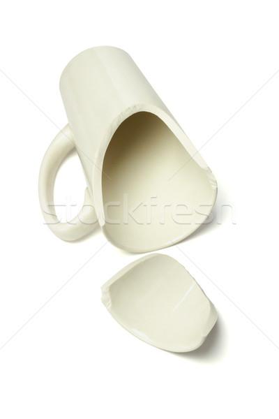 Foto stock: Quebrado · caneca · caneca · de · café · café · chá · objeto