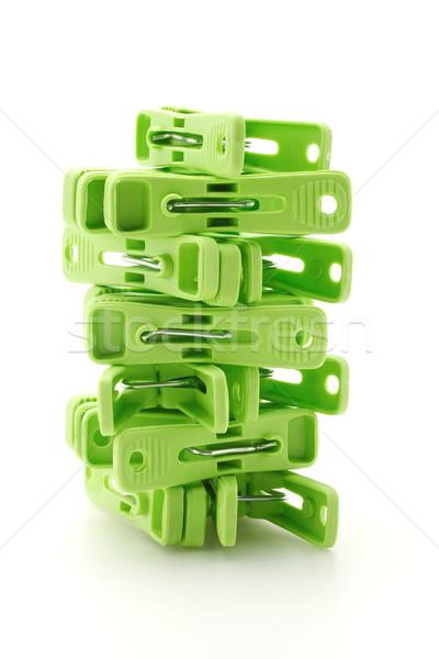 Plastic cloth pegs tower  Stock photo © dezign56