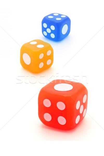 Three colorful rubber dice  Stock photo © dezign56