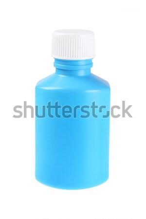 пластиковых бутылку жидкость медицина белый контейнера Сток-фото © dezign56