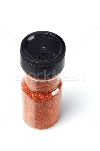 бутылку красный чили белый продовольствие Сток-фото © dezign56