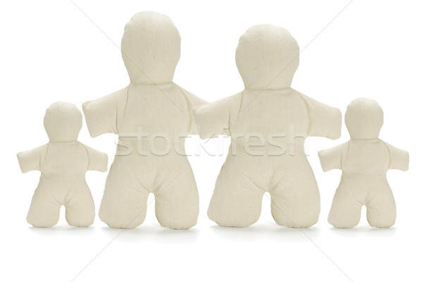 Family of faceless dummy soft dolls  Stock photo © dezign56