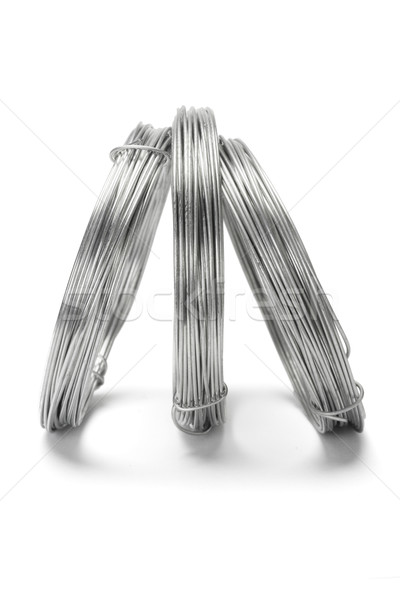 Coils of galvanized wires standing Stock photo © dezign56