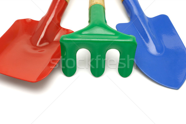 Colorful garden tools with copy space Stock photo © dezign56