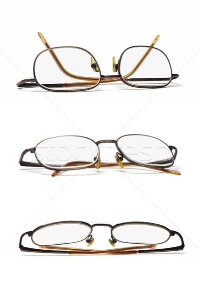 Metal ramki okulary zestaw trzy biały Zdjęcia stock © dezign56
