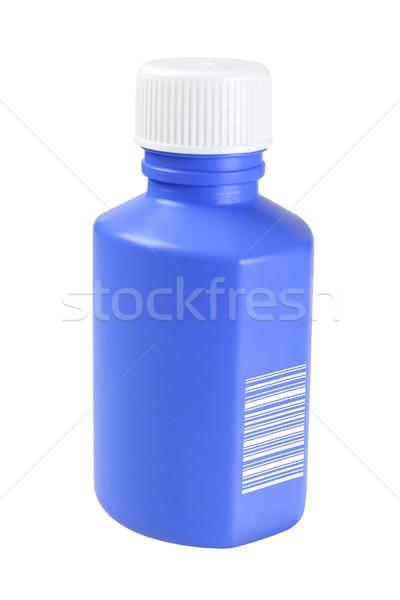 Blue Plastic Medicine Bottle Stock photo © dezign56
