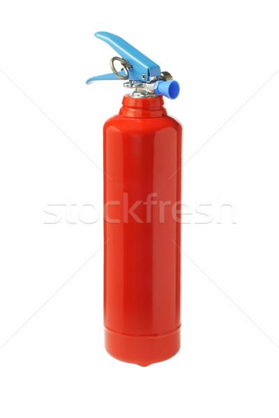 Mini hordozható tűzoltó készülék fehér tűz biztonság Stock fotó © dezign56