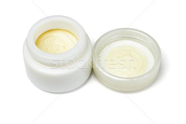 косметических кремом открытых контейнера белый текстуры Сток-фото © dezign56