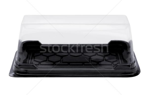Empty Plastic Cake Box Stock photo © dezign56