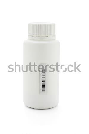 Barcode vignette médecine contenant plastique Photo stock © dezign56