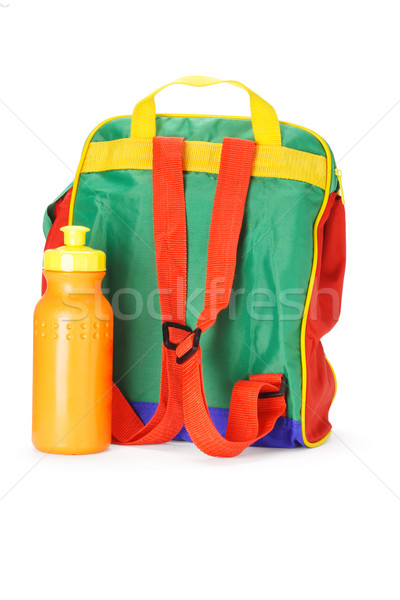 Colorful preschooler backpack and water container Stock photo © dezign56