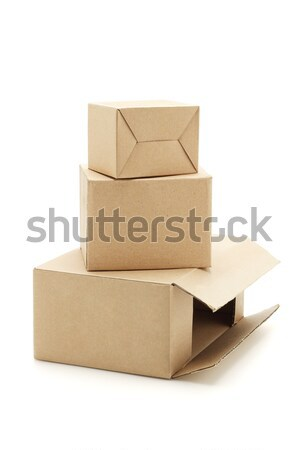Carton boxes Stock photo © dezign56