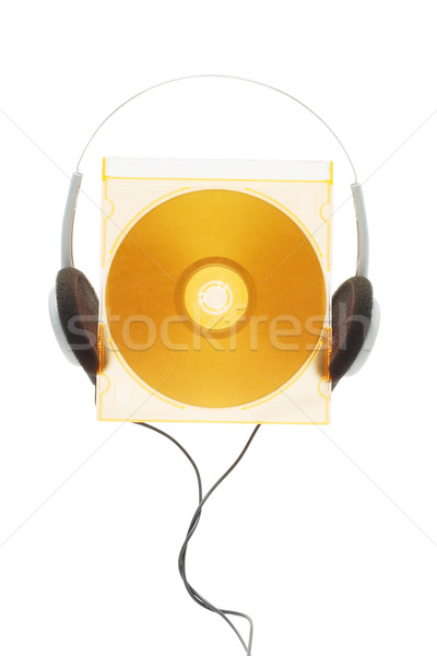 compact disc and headphone Stock photo © dezign56