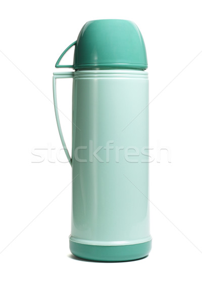 Green thermos flask  Stock photo © dezign56